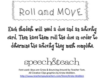 Roll and Move