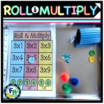 Roll and Multiply Activity (Centers)