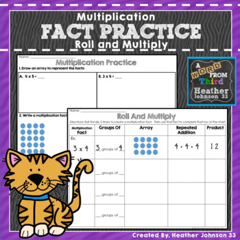 Roll and Multiply Activity: Arrays, repeated addition, and more!