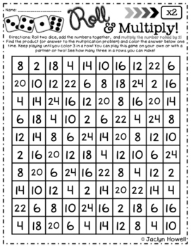 Roll and Multiply FREEBIE