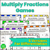 Fractions Game Roll and Multiply