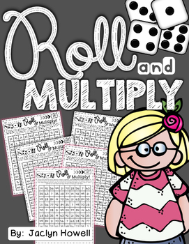 Roll and Multiply! Multiplication Printable