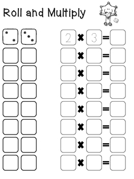 Roll and Multiply - Snowflake