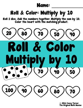 Roll and Color: Multiply by 10