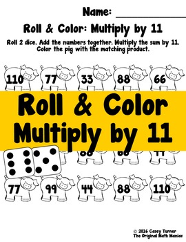 Roll and Color: Multiply by 11