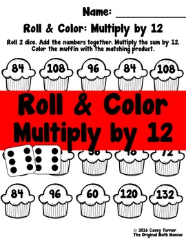 Roll and Color: Multiply by 12