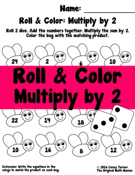 Roll and Color: Multiply by 2