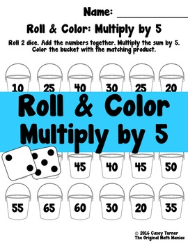 Roll and Color: Multiply by 5