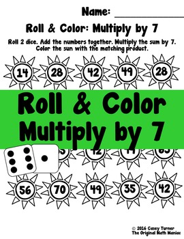 Roll and Color Multiply by 7