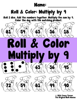 Roll and Color: Multiply by 9