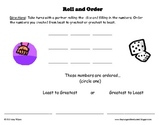 Roll and Order (Ordering 3 digit numbers)