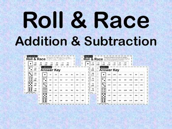 Roll and Race Addition and Subtraction