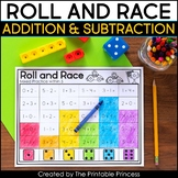 Roll and Race Addition and Subtraction Dice Games