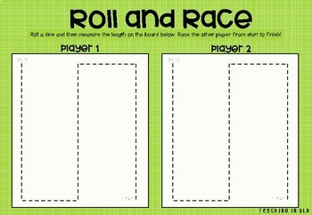 Roll and Race Measurement Board Game