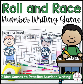 Roll and Race: Number Writing Game!