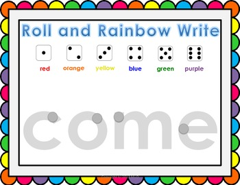 Roll and Rainbow Write