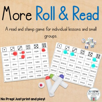 Roll and Read 2: A No Prep Reading Game