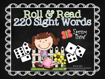 Roll and Read 220 Dolch Sight Words Spring Theme