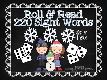 Roll and Read 220 Dolch Sight Words Winter Theme