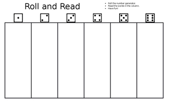 Roll and Read - Editable