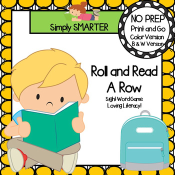 Roll and Read A Row:  NO PREP Sight Word Game