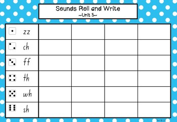 Roll and Read AND Roll and Write Phonics Activity