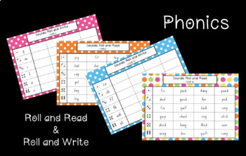 Roll and Read AND Roll and Write Phonics and Camera Word / Sight Word Bundle