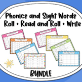 Roll and Read AND Roll and Write Phonics AND Tricky Sight Words BUNDLE