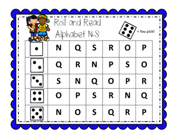 Roll and Read Alphabet
