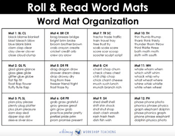 Roll and Read BLENDS (600 words) Whimsy Workshop Teaching