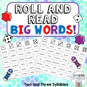Roll and Read Big Words!