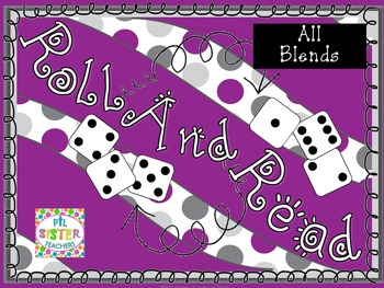 Roll and Read Beginning and Ending Blends! EIGHT Weeks of Activites!!!