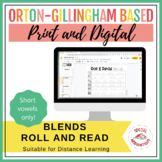 Roll and Read Blends (Short Vowels Only)