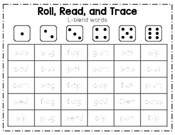 Roll and Read Blends and Digraphs