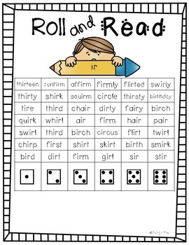 Roll and Read- Bossy R
