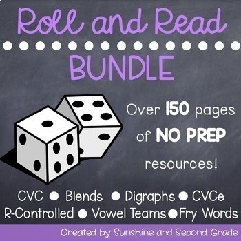 Roll and Read Bundle  [Long/Short vowels, R-Controlled Vowels, Fry Sight Words]