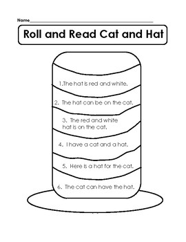 Roll and Read Cat and Hat