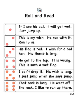 2nd Grade Roll and Read National Reading Vocabulary