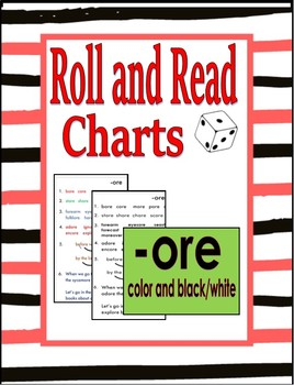 Roll and Read Charts (aka - Toughy Charts)  - ore - color and b/w