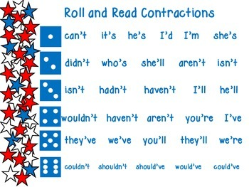 Roll and Read Contractions