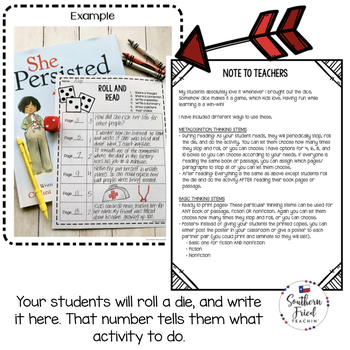 Roll and Read: Dice Reading Activities for Any Book