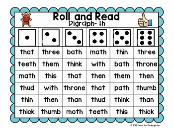 Roll and Read {Digraph Fluency}