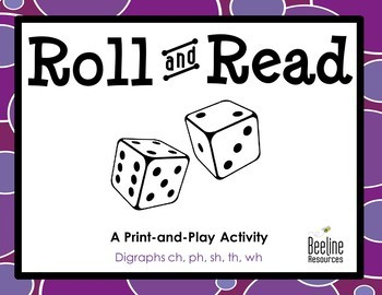 Roll and Read - Digraphs *5 Print-and-Play Sets*