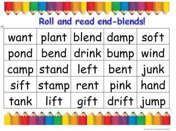 Roll and Read End Blends