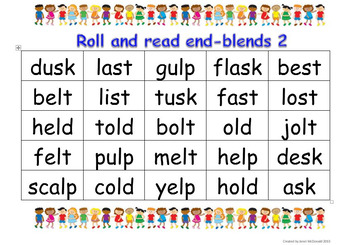 Roll and Read End Blends 2