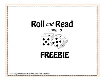 Roll and Read FREEBIE Long a