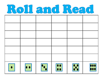 Roll and Read Fluency