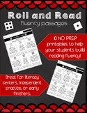 Roll and Read Fluency - Passages