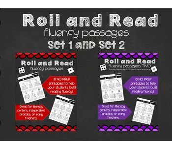 Roll and Read Fluency Passages SET