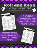 Roll and Read Fluency - Passages TWO